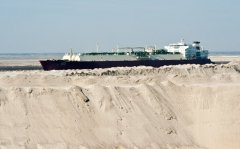Ship in the Desert, Suez Canal, Egypt